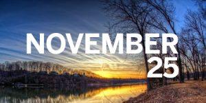 Thanksgiving Weekend Schedule